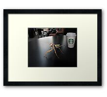 Hay! I'm Trying To Have a Coffee Here! Framed Print