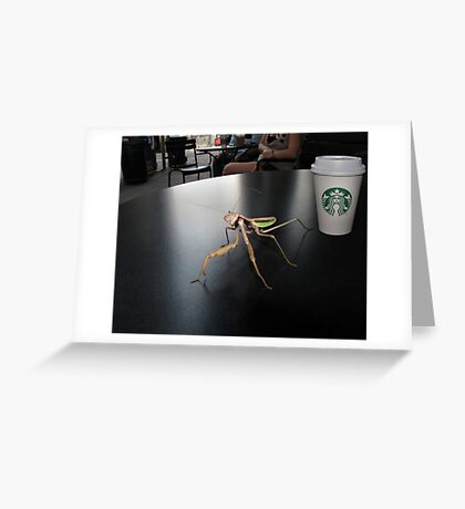 Hay! I'm Trying To Have a Coffee Here! Greeting Card