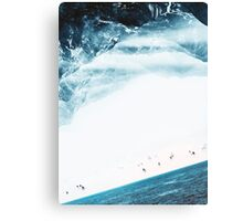 Teal Swim Canvas Print