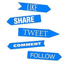 Social Media Directory Photographic Print