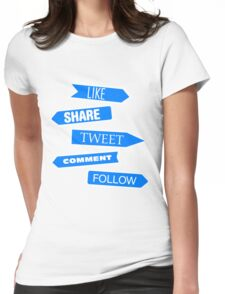Social Media Directory Womens Fitted T-Shirt