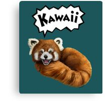 Cute Kawaii Red Panda Canvas Print