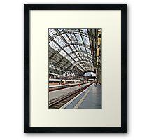 Frankfurt DB train station - HDR Framed Print