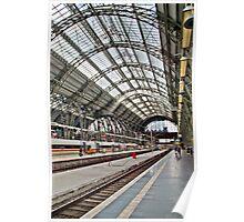Frankfurt DB train station - HDR Poster