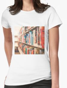 Library Time Womens Fitted T-Shirt