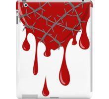 Bleeding Heart Silver Barbed Wire iPad Case/Skin