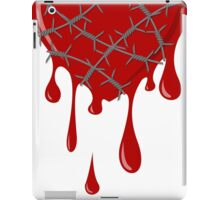 Bleeding Heart Silver Barbed Wire iPad Case/Skin