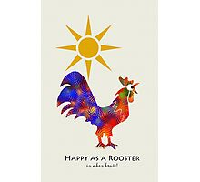 Colorful Rooster Art Photographic Print