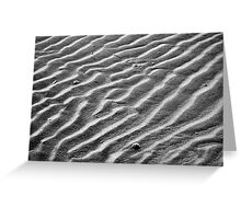 Sandy Wave Patterns Greeting Card