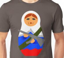Matryoshka with machine gun Unisex T-Shirt
