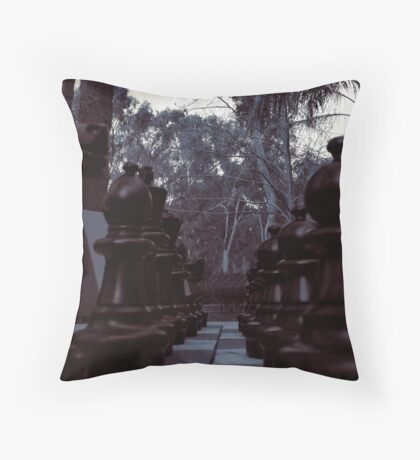 Your Move - Black Chess Pieces Throw Pillow