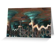 Alien Underground Cave Greeting Card