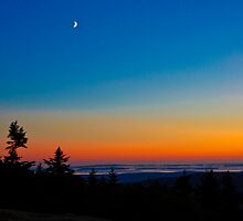 Cadillac Mountain at Sunset by Wanda Dumas