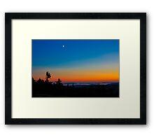 Cadillac Mountain at Sunset Framed Print