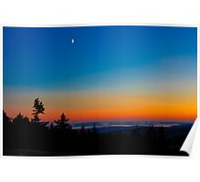 Cadillac Mountain at Sunset Poster