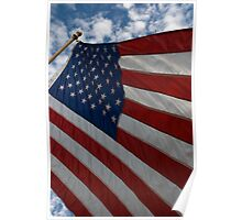 Old Glory On 9-11-11 Poster