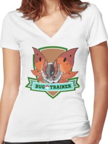 Bug Trainer #2 Women's Fitted V-Neck T-Shirt