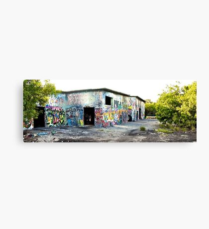 Cold War Relic - abandoned Nike Missile site Canvas Print