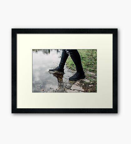 Yeezy Boost Splash Framed Print
