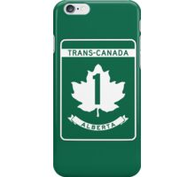 Alberta, Trans-Canada Highway Sign iPhone Case/Skin