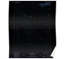 USGS Topo Map Oregon Indian Fort 280290 1980 24000 Inverted Poster