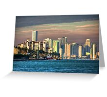 Miami Heat- downtown on a sweltering day Greeting Card