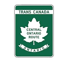 Ontario, Trans-Canada Highway Sign Photographic Print