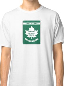 Ontario, Trans-Canada Highway Sign Classic T-Shirt