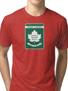 Ontario, Trans-Canada Highway Sign Tri-blend T-Shirt