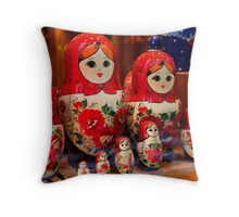 Babushka Dolls Throw Pillow