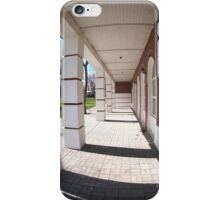 The facade of the city building iPhone Case/Skin