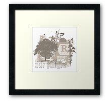 Tree Art Ecology Framed Print