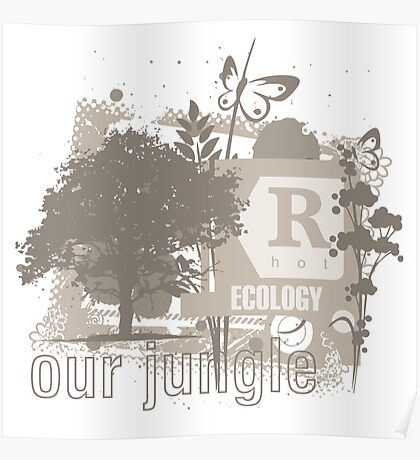 Tree Art Ecology Poster