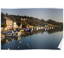 The Quay, Graiguenamanagh, County Kilkenny, Ireland Poster
