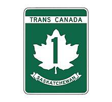 Saskatchewan, Trans-Canada Highway Sign Photographic Print