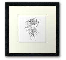 Palm Sketch Framed Print