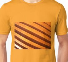 Wooden boards wall with wide angle fisheye view Unisex T-Shirt