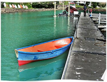 Dinghy, Whangaroa, Northland, New Zealand. by Lynne Haselden