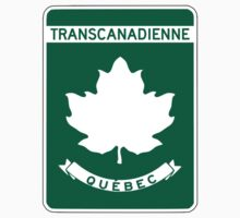 Quebec, Trans-Canada Highway Sign Kids Tee