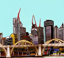 Brisbane City by Melchizedek