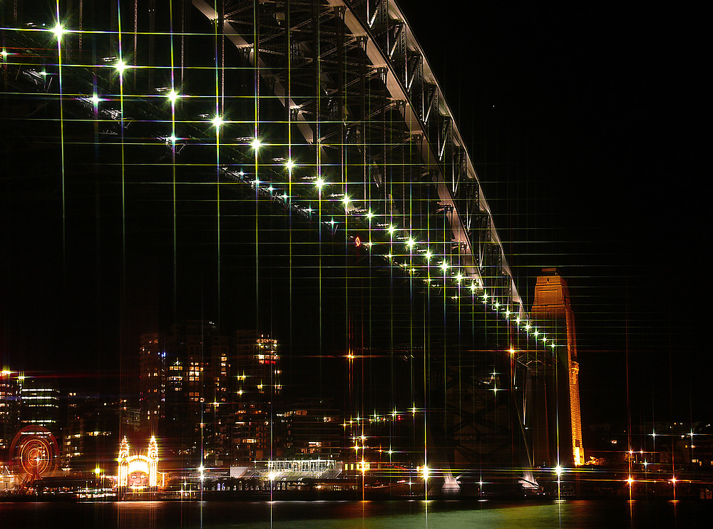 Sydney Harbour Bridge at Night by Sharon Brown