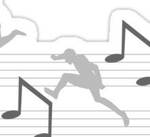 Notensatz jump Sticker