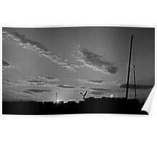 Sunset  In The West Texas Oilfields Poster