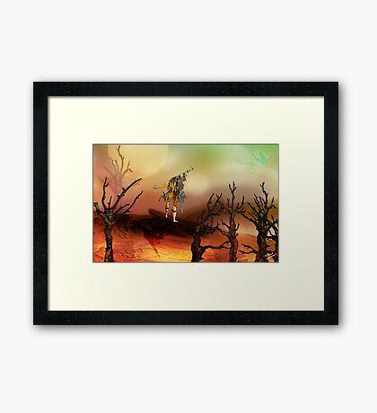 The Red Lands Framed Print