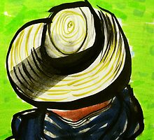 straw hat by donnamalone