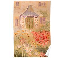Garden scene Poster