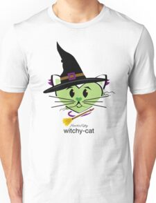 HeartKitty Witchy-Cat Unisex T-Shirt