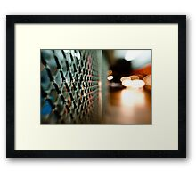 lattice@night Framed Print
