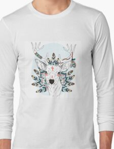 Deer with feathers Long Sleeve T-Shirt