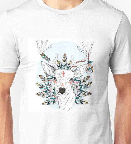 Deer with feathers Unisex T-Shirt